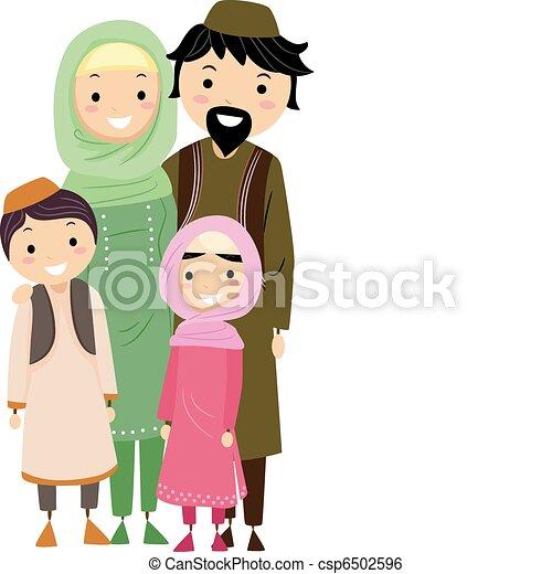 Familia musulmana - csp6502596