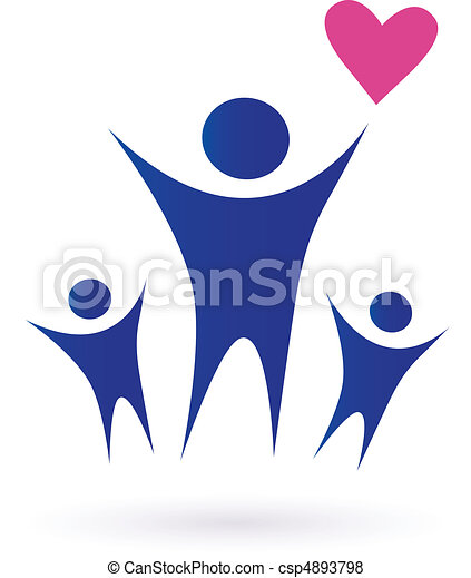 Familia, salud y iconos comunitarios - csp4893798