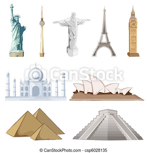 Un monumento famoso alrededor del mundo - csp6028135