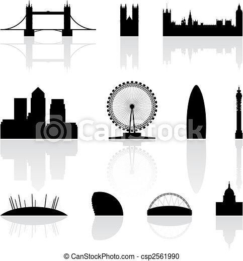 Los famosos monumentos de Londres - csp2561990