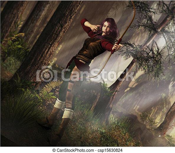 Arquero de fantasía - csp15630824