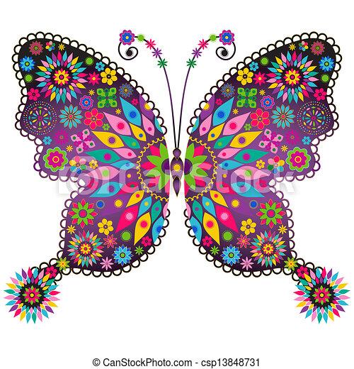 Fantasía vivida mariposa - csp13848731