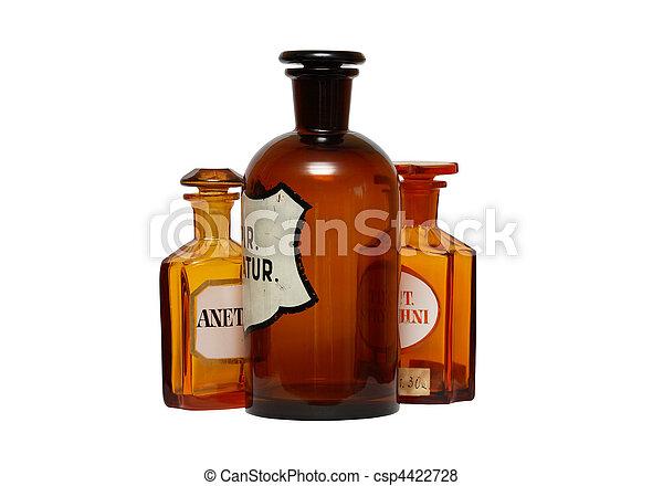 Fábricas farmacéuticas antiguas - csp4422728