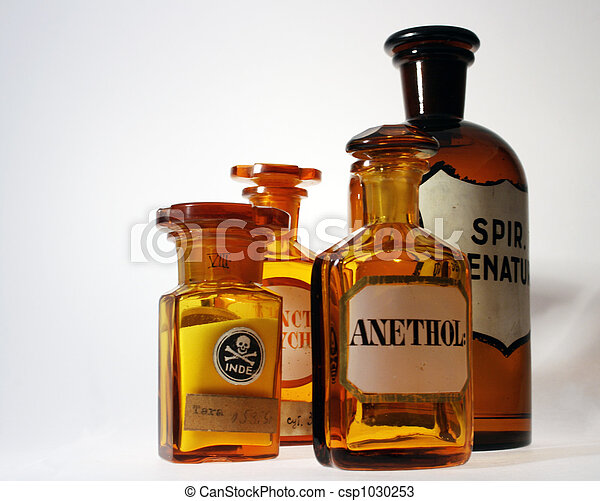 Retro farmacéutico - csp1030253