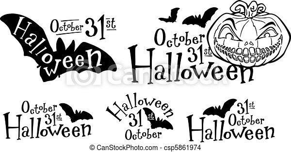 Calabaza de Halloween, calabaza de calabaza - csp5861974