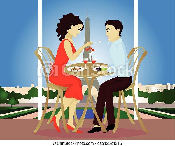 Fecha en el café Paris - csp42524315