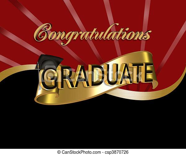 Felicitaciones graduada gráfica - csp3870726