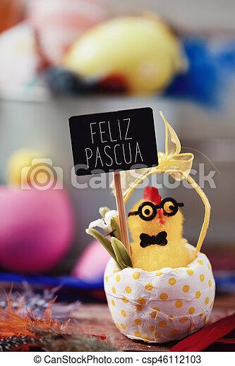 Texto feliz pascua, feliz Pascua en español - csp46112103