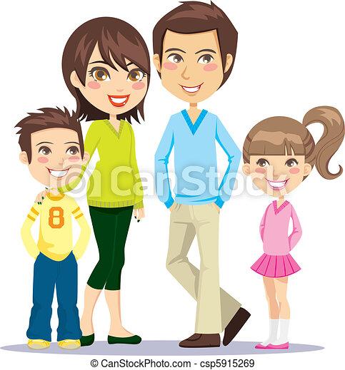 Feliz familia sonriente - csp5915269