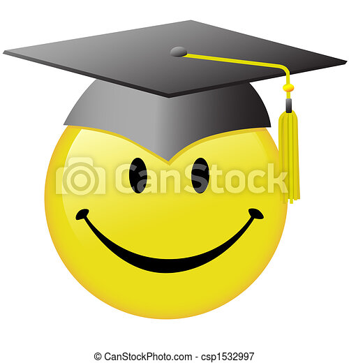 Feliz graduación con el botón de la gorra graduada - csp1532997