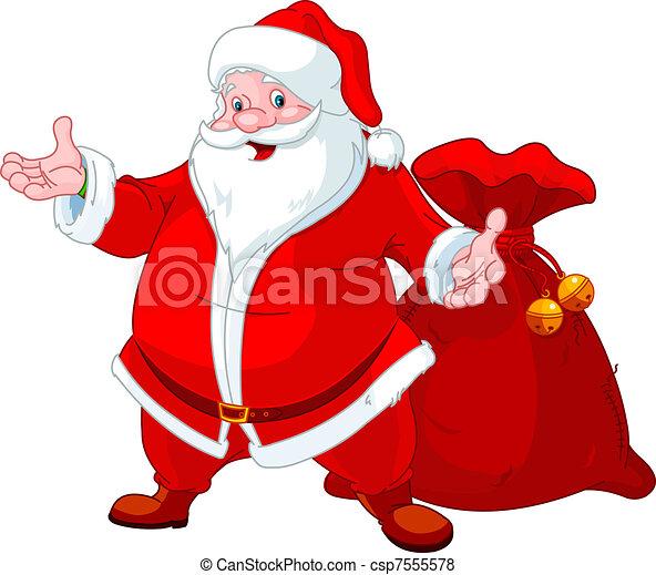 Feliz Santa - csp7555578
