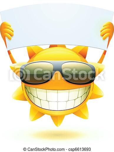 Feliz sol de verano - csp6613693