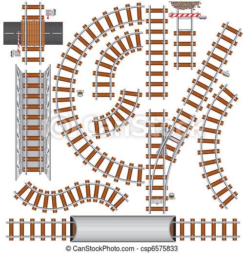 Elementos de ferrocarril - csp6575833