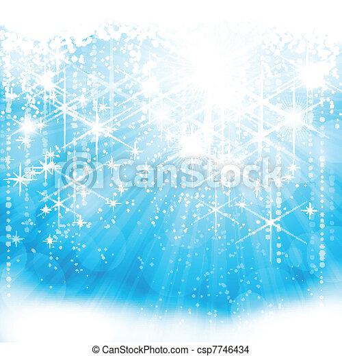 Festive resplandeciente fondo azul claro (eps10) - csp7746434