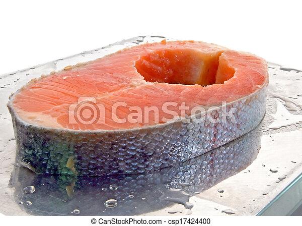 Filete de salmón - csp17424400