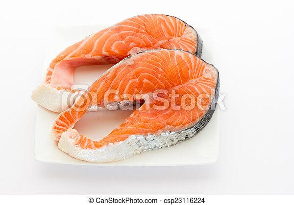 Filete de salmón - csp23116224