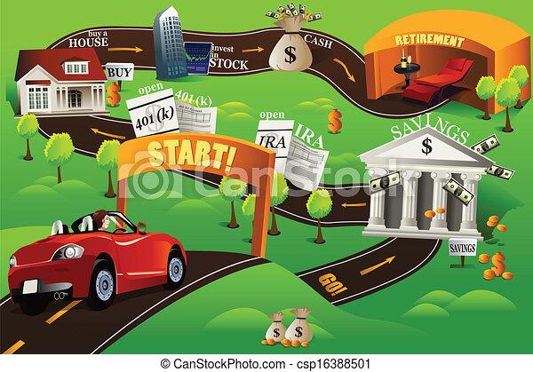 Una hoja de ruta financiera - csp16388501