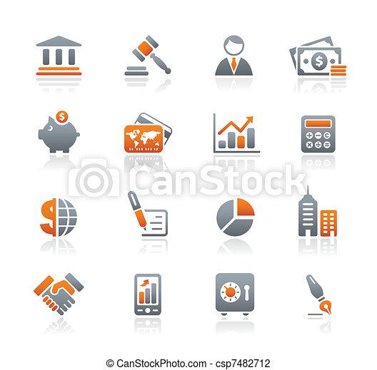 íconos de negocios y finanzas / grafito - csp7482712