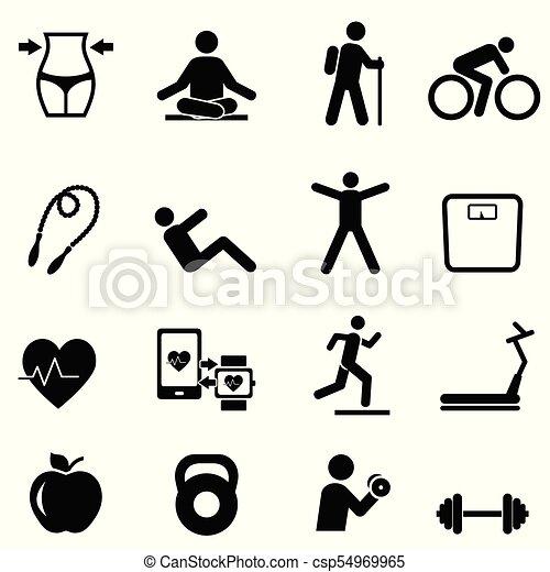 Fitness, dieta y estilo de vida saludable - csp54969965