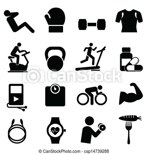 Fitness, dieta y vida sana - csp14739288