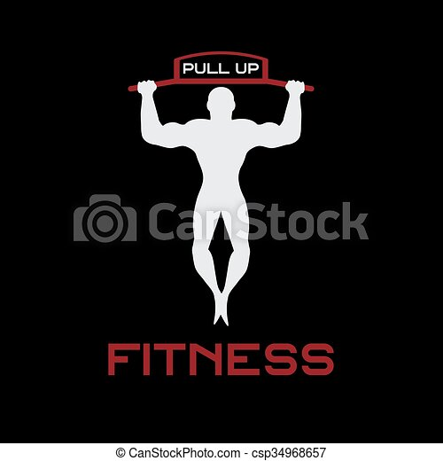 Fitness tire hacia arriba bandas ilustración vectorial - csp34968657