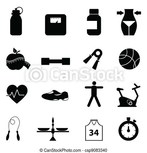 Fitness y un icono de dieta - csp9083340