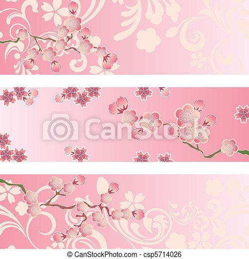 La bandera de los cerezos está puesta - csp5714026