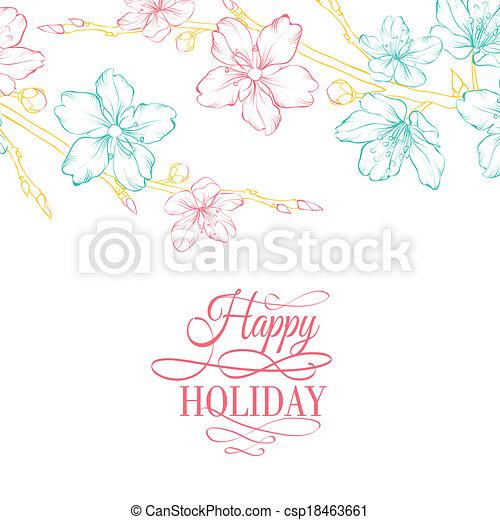 Flor de cerezo en rama - csp18463661