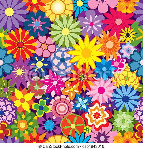 Colorido fondo de flores - csp4943010