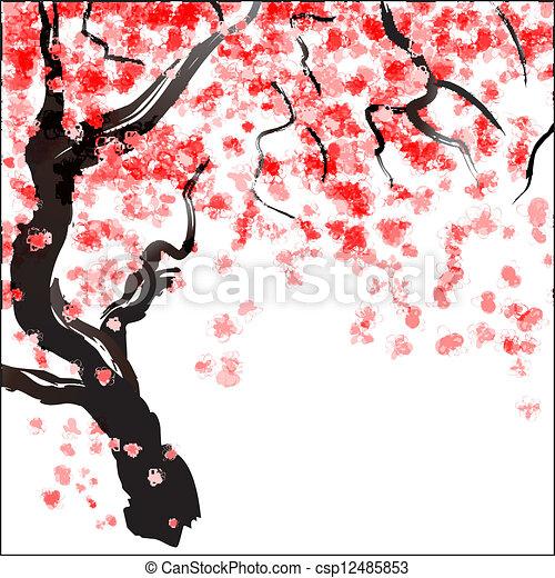 Flor de cerezo - csp12485853