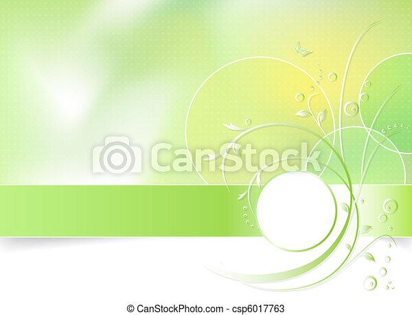 Flor de primavera verde - csp6017763