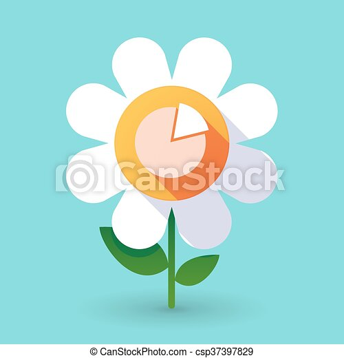 Flor de vector con un gráfico - csp37397829