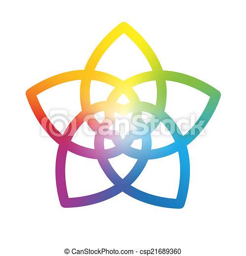 Flor del arco iris blanco - csp21689360