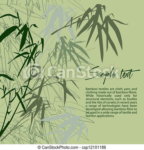Bambú. Un fondo floral - csp12101186