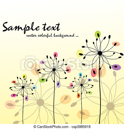 Floral colorido de primavera - csp3985918