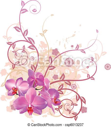 Orquídeas frescas - csp6013237