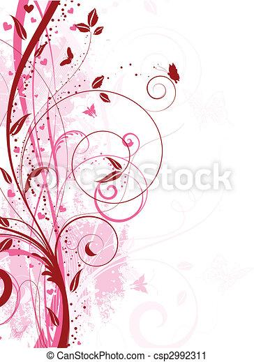 Grunge floral - csp2992311