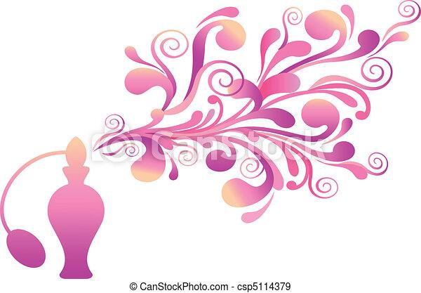 Una botella de perfume floral - csp5114379