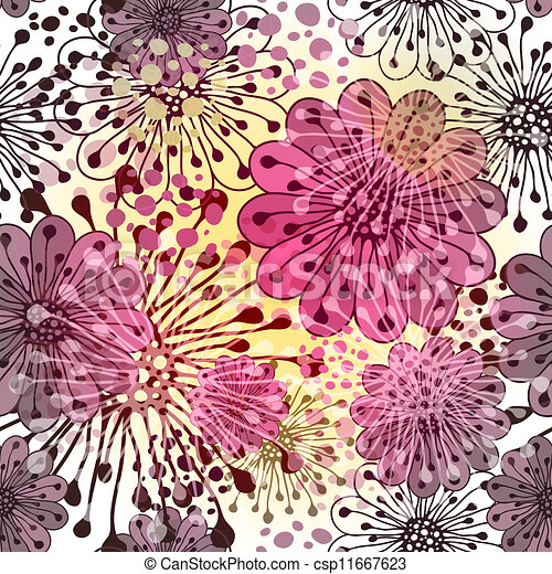 Patrón floral de primavera inservible - csp11667623