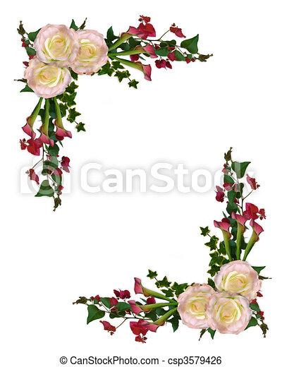 Rosas florales y calizas - csp3579426