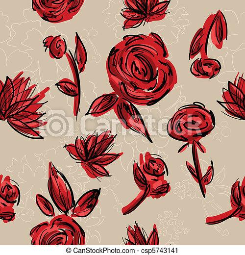 Un fondo floral sin semen - csp5743141