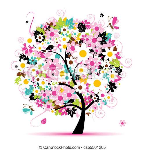 Floral de verano para tu diseño - csp5501205