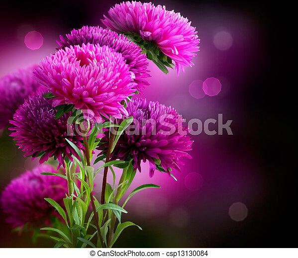 El diseño de las flores de otoño - csp13130084
