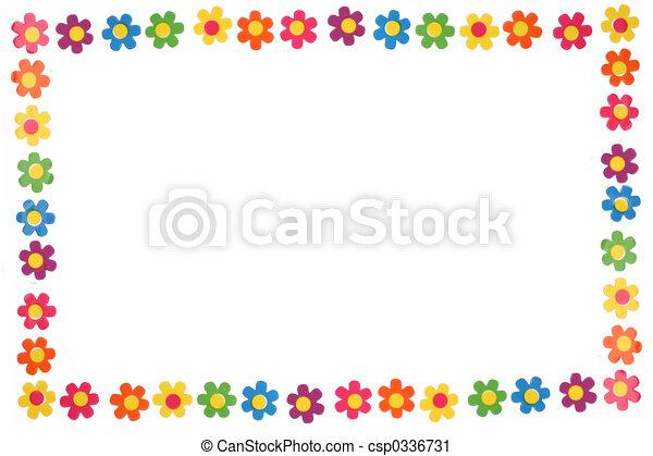 Flores coloridas - csp0336731