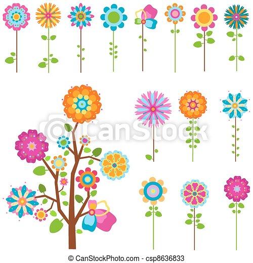 Flores retrógradas - csp8636833