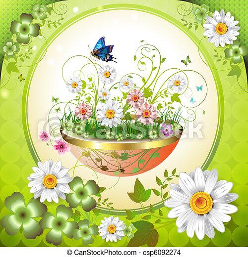Flores en la maceta - csp6092274