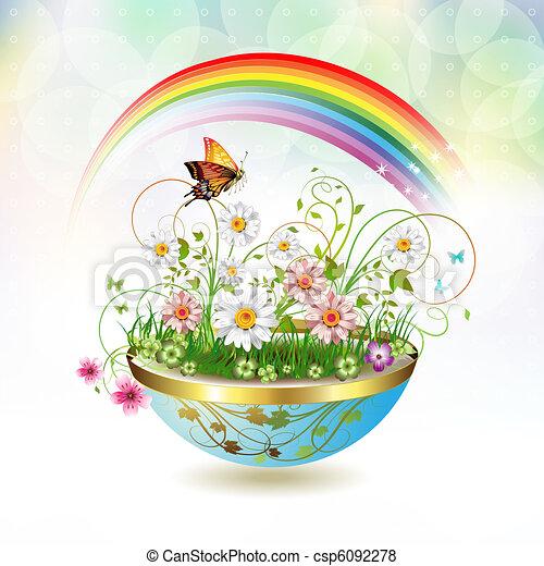 Flores en florero - csp6092278