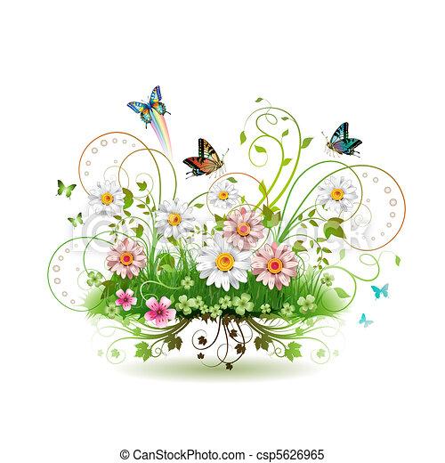 Flores en la hierba - csp5626965
