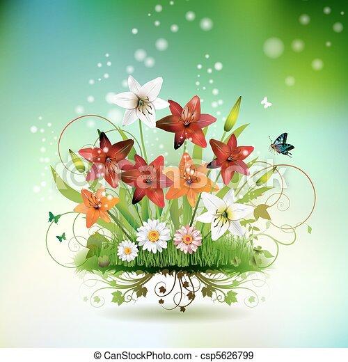 Flores en la hierba - csp5626799