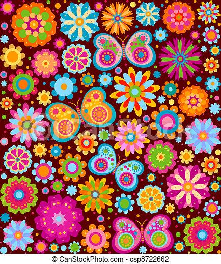 Flores de fondo - csp8722662